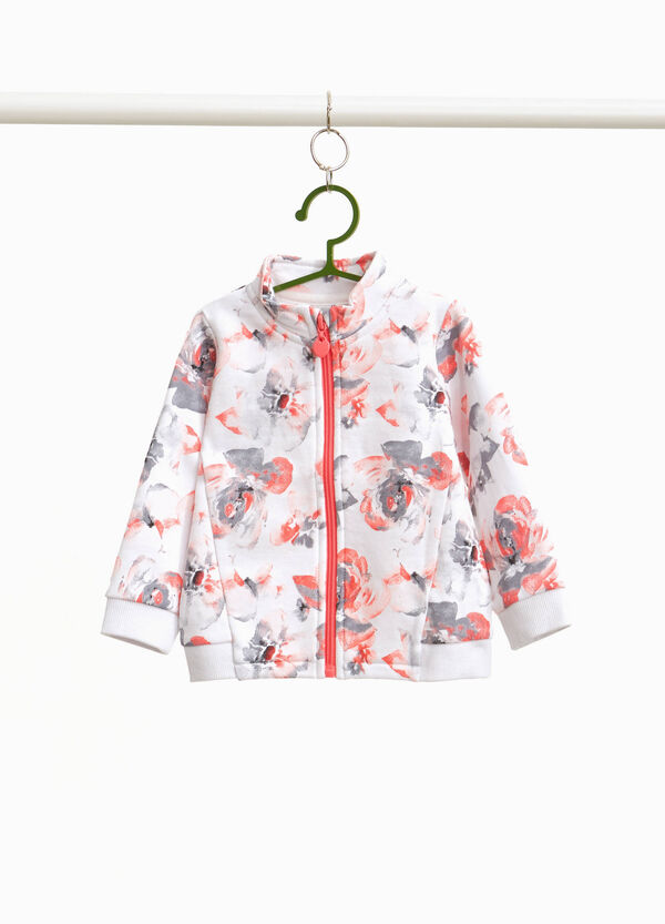 Sweatshirt with all-over floral print