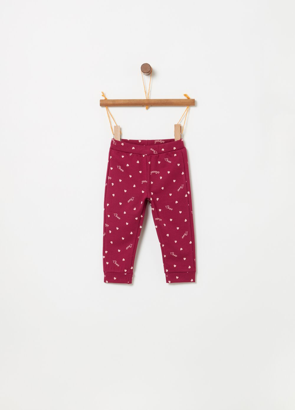Stretch organic cotton jogger trousers