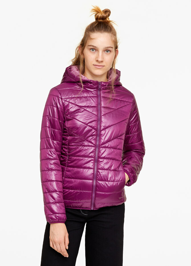 Solid colour padded down jacket