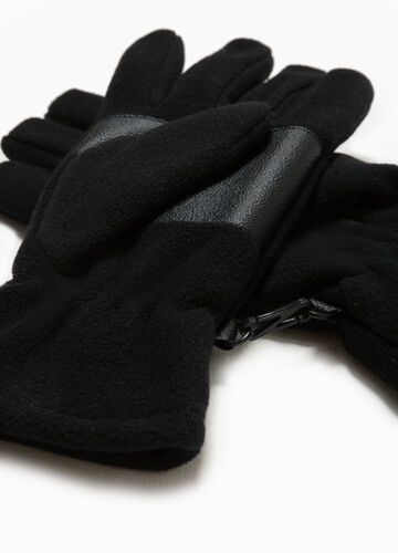 Fleece gloves with hook