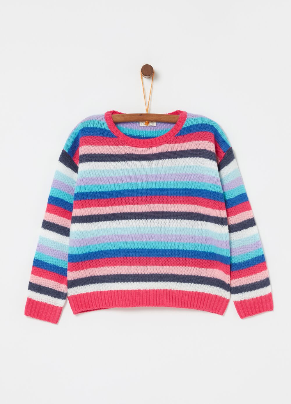 Crazy stripes pullover with lurex