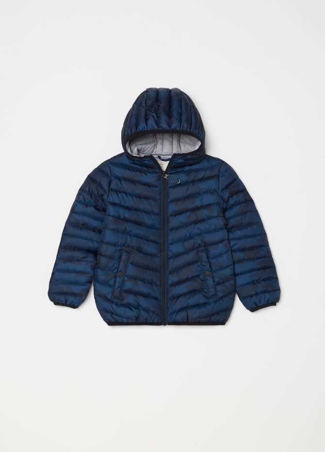 Padded and quilted jacket with zip