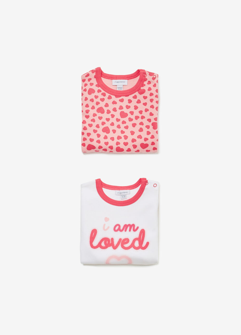 Two-pack printed and hearts bodysuits