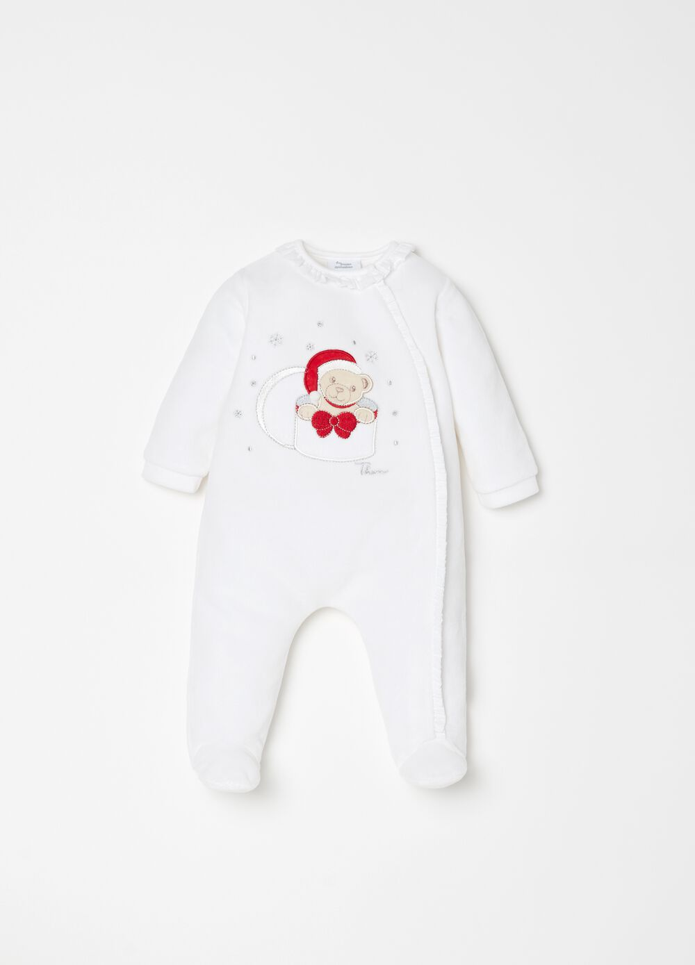 Onesie with feet and THUN embroidery