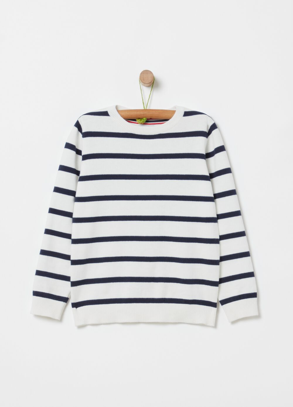 Top with striped pattern