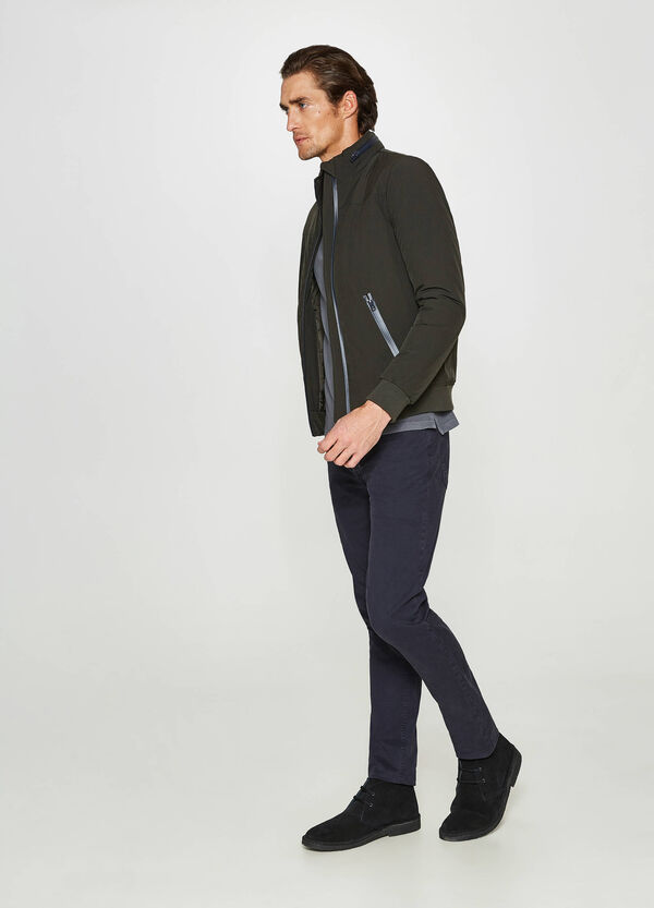 Rumford stretch jacket with high neck