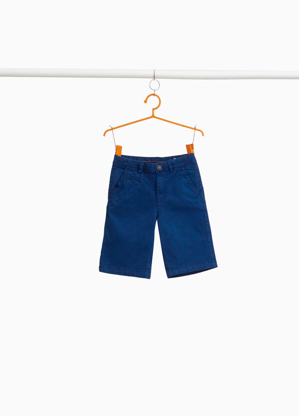 Stretch cotton chino Bermuda shorts