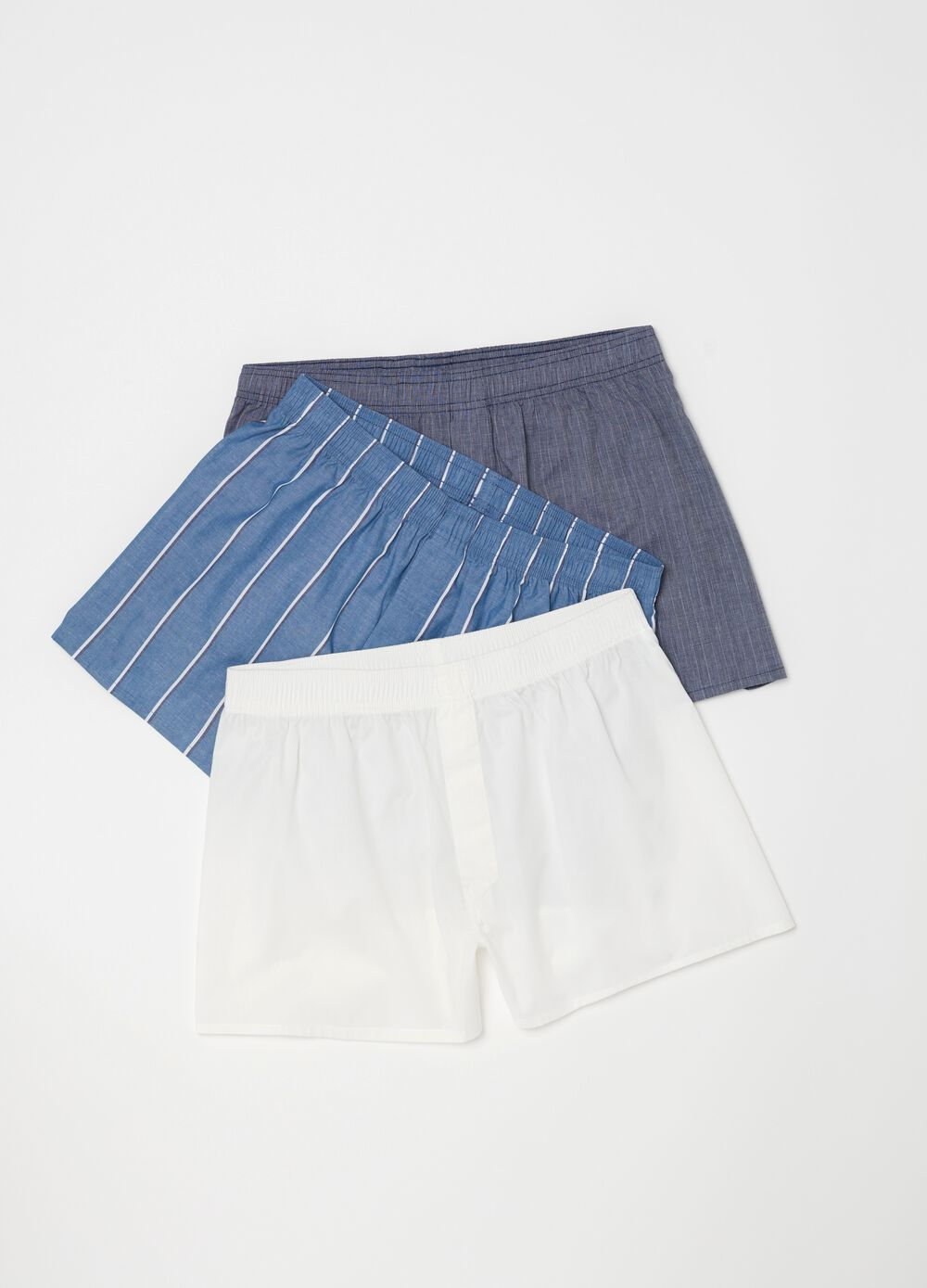 Three-pack boxer shorts in 100% cotton