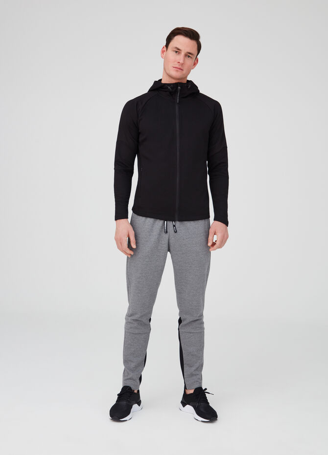 Gym trousers with drawstring, pockets and inserts