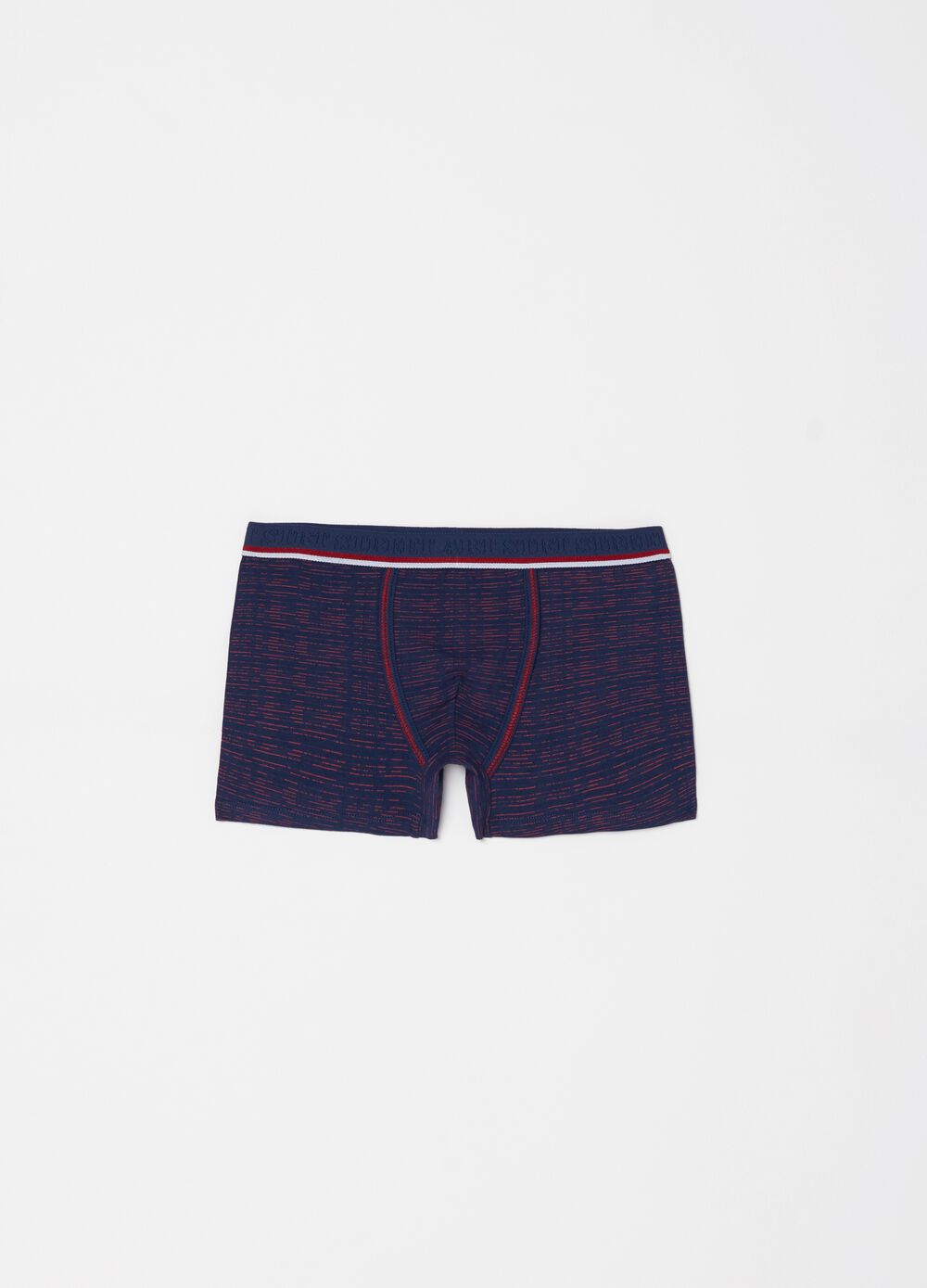 Patterned and embroidered boxer shorts in organic cotton