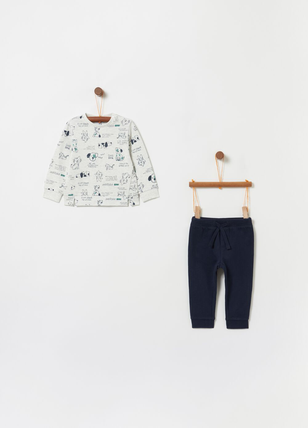 Jogging set in French Terry stampa