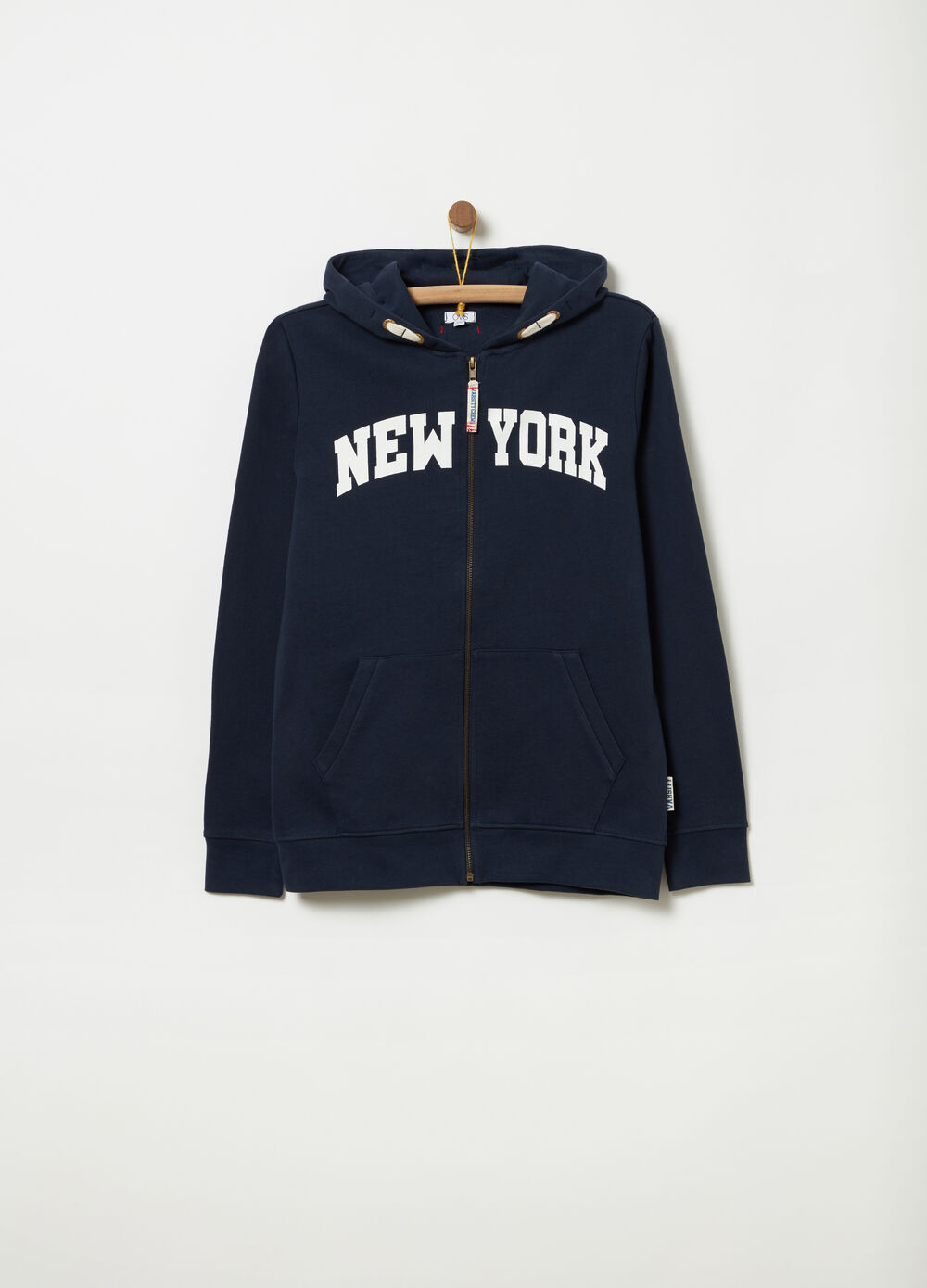 Sweatshirt in 100% cotton with New York print