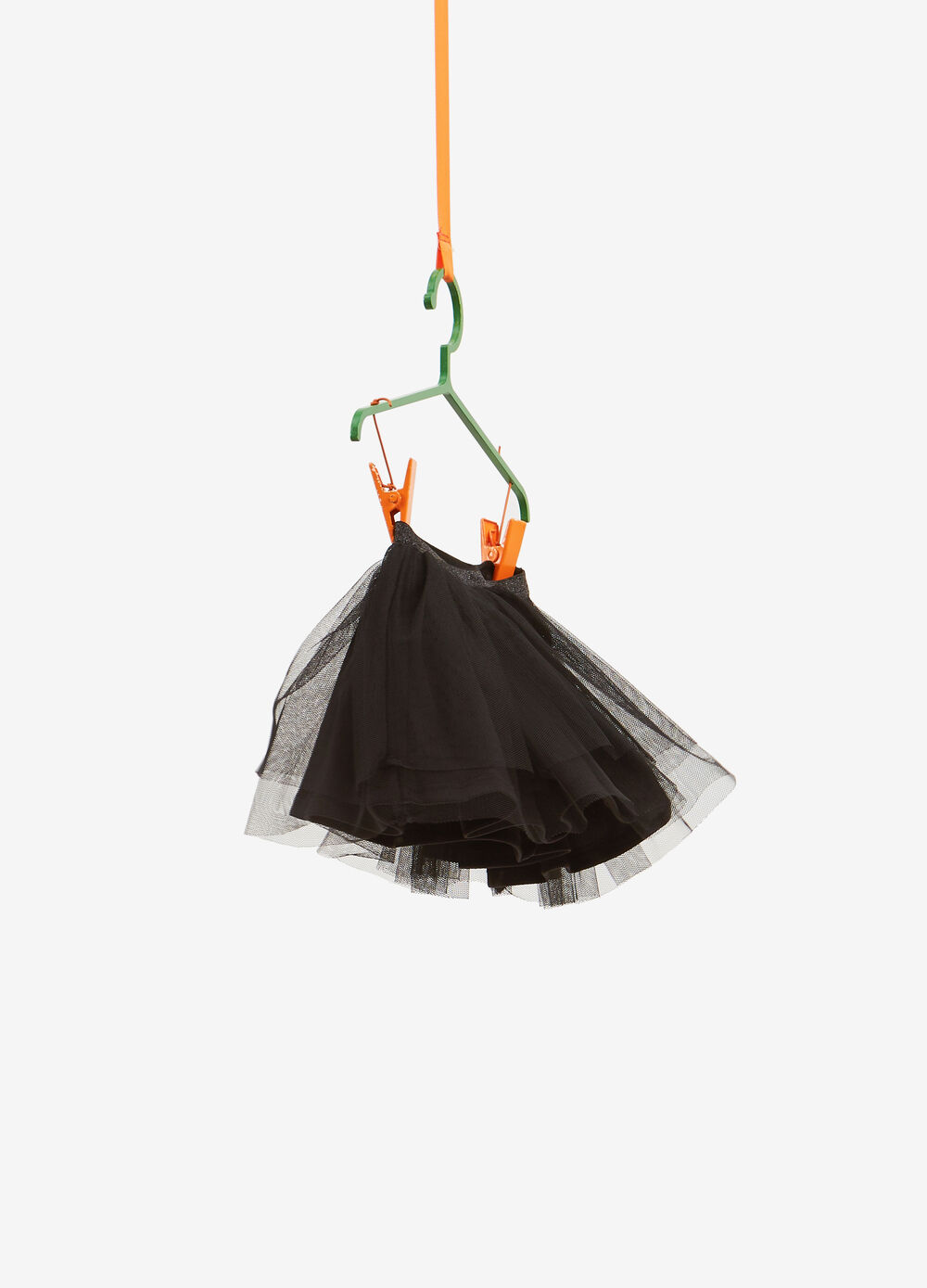 Solid colour skirt in tulle