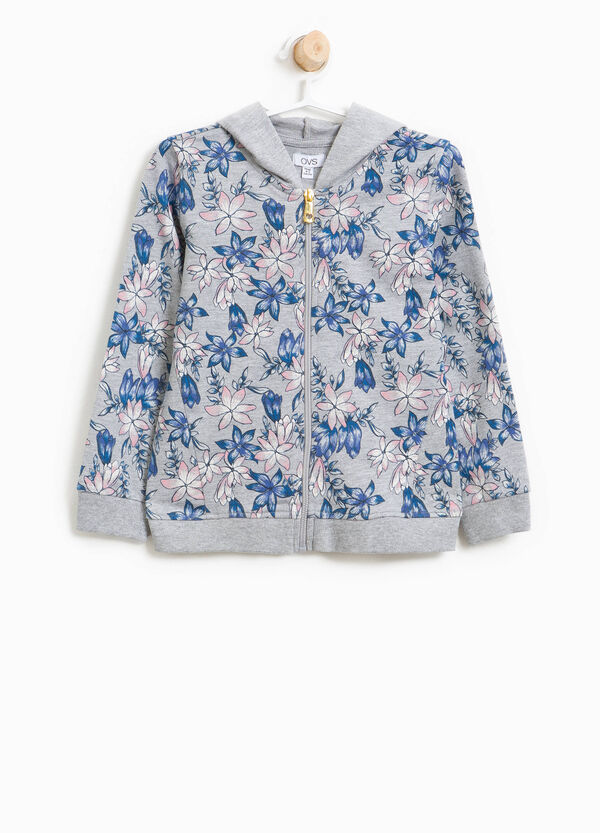 Floral pattern 100% cotton sweatshirt | OVS