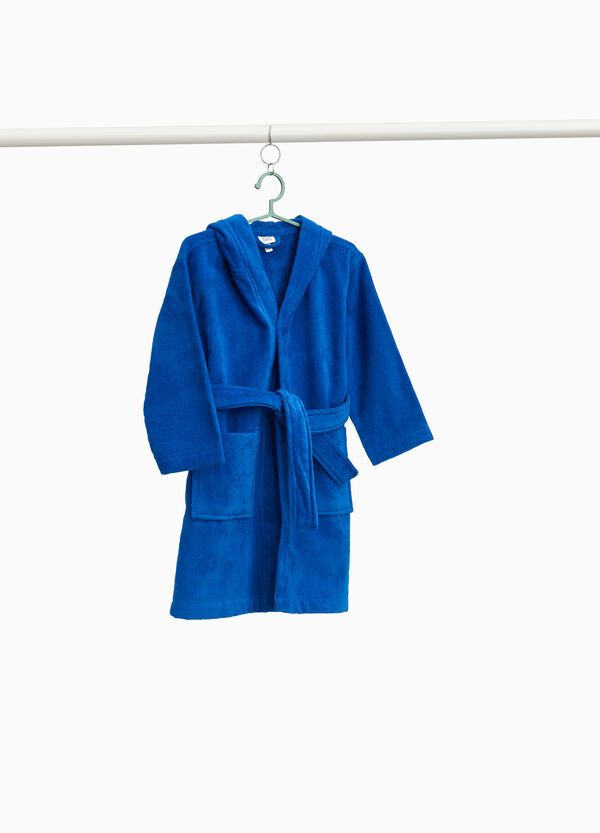 100% cotton bathrobe with belt