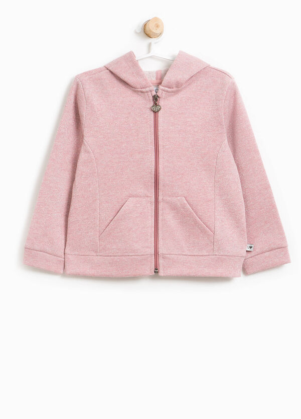 Cotton sweatshirt with lurex | OVS