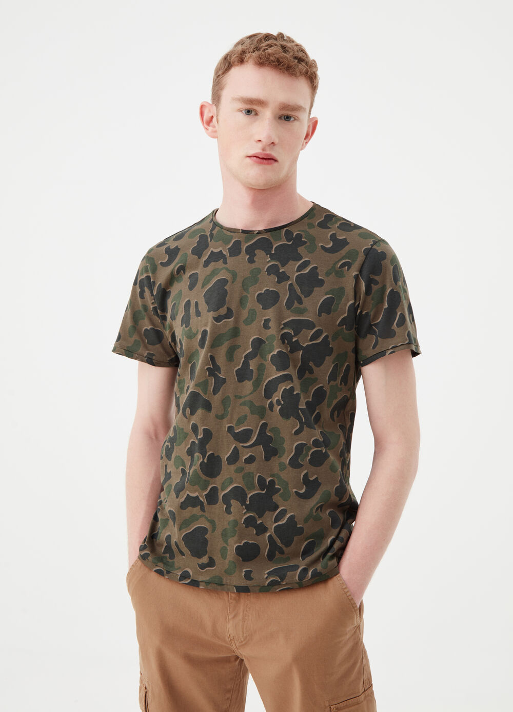 T-shirt with military pattern