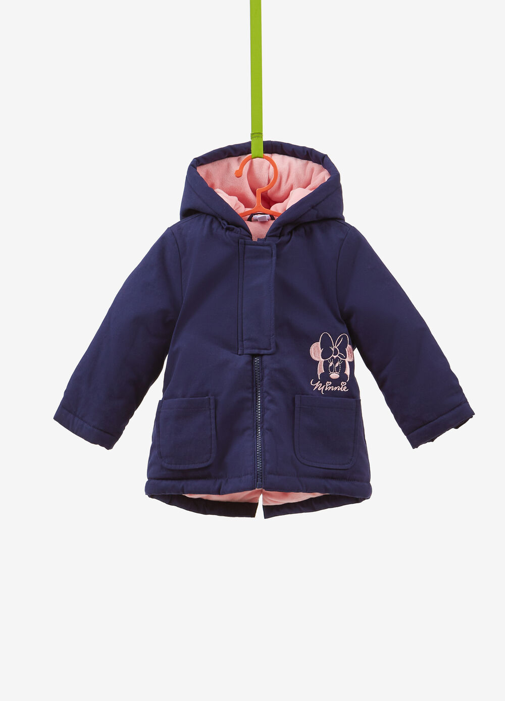 Parka in 100% cotton with Minnie Mouse embroidery