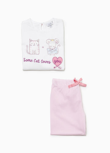 Pyjamas with glitter print and patch