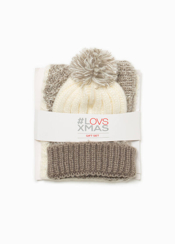 Two-tone hat and scarf set | OVS