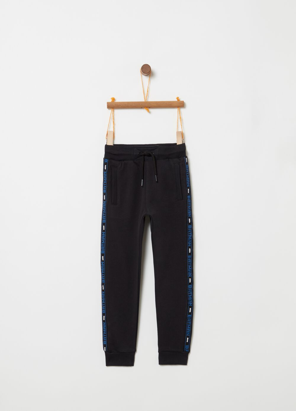 French terry trousers with Batman print [DC COMICS]