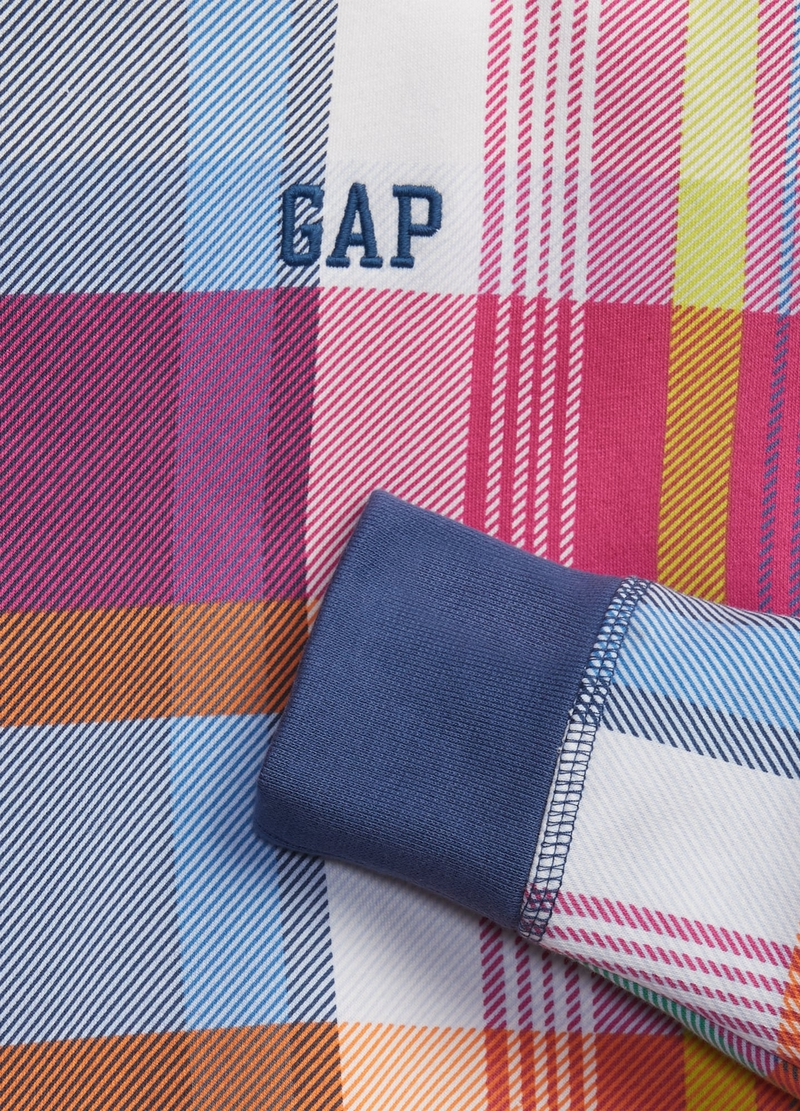 GAP sweatshirt with check hood image number null