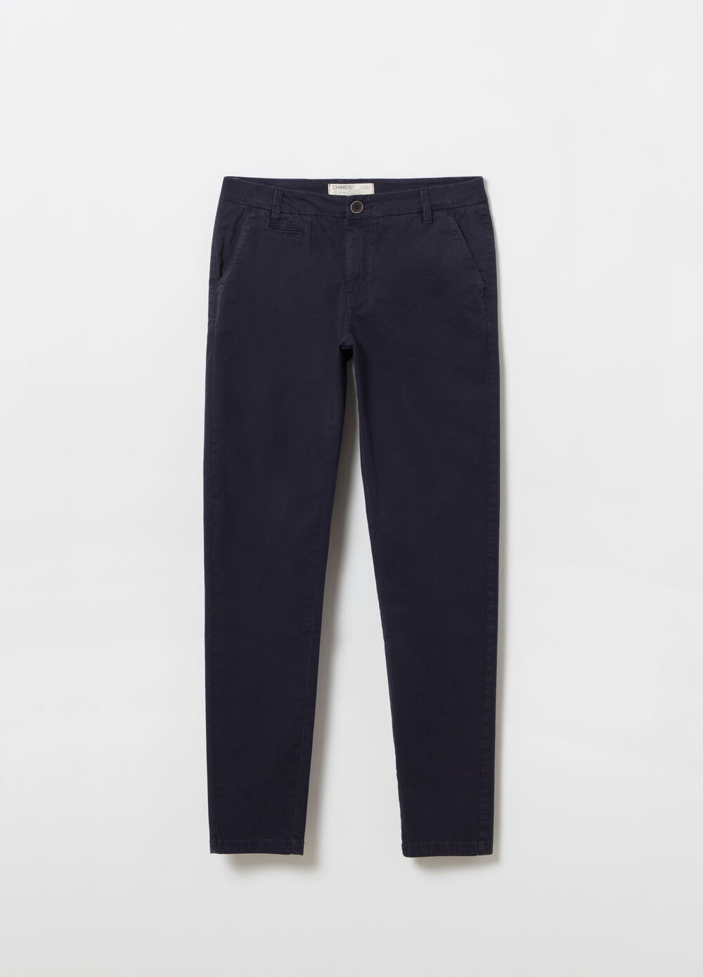 Slim-fit chino trousers with adjustable waist