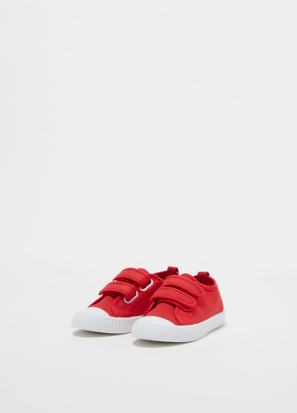 Solid colour sneakers with Velcro