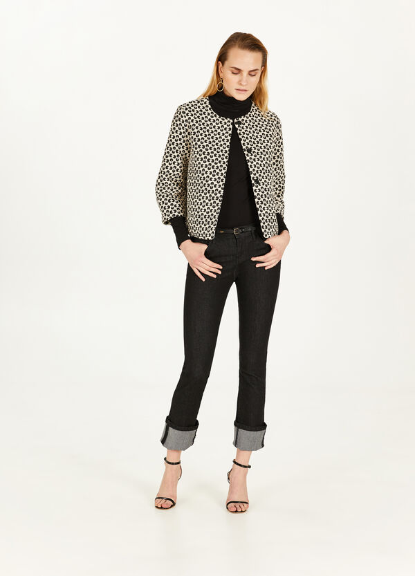 Cotton blend patterned blazer