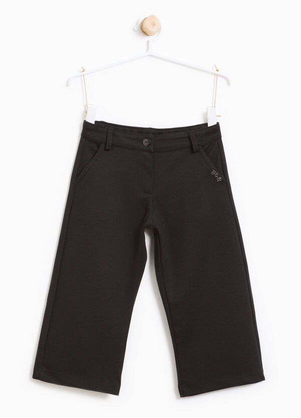 Dolid colour viscose crop trousers. | OVS