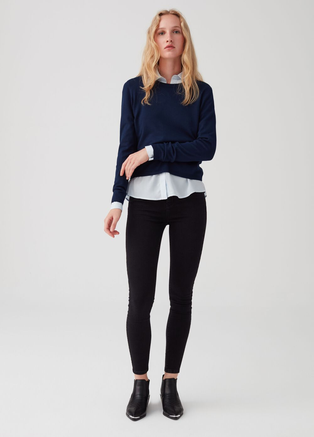 Push-up jeans with soft-touch cotton