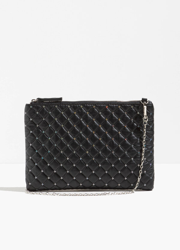 Quilted shoulder bag with sequins | OVS