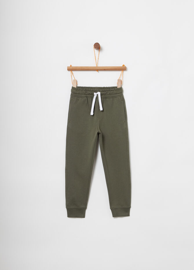 French Terry joggers with drawstring and pockets