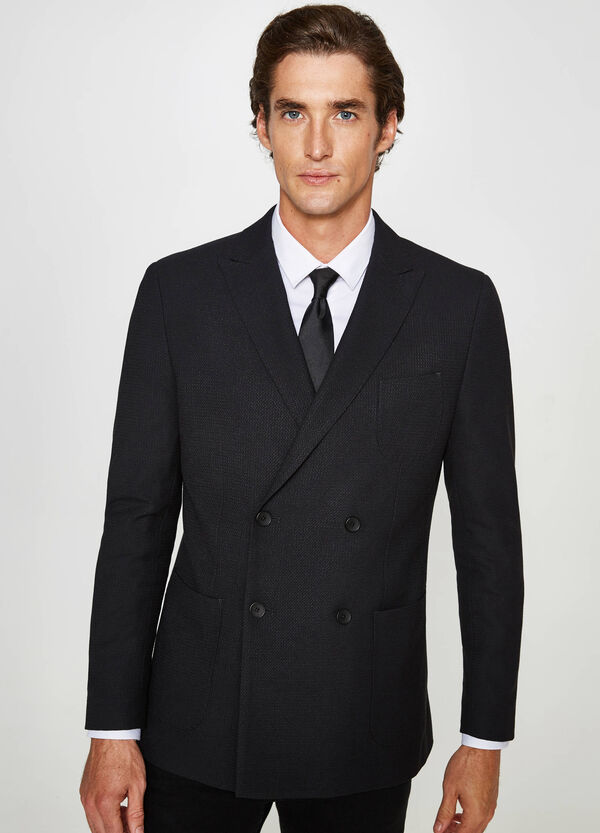 Custom-fit elegant double-breasted jacket