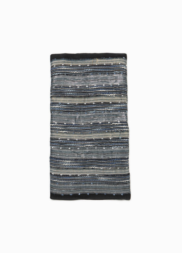 Striped scarf in viscose with lurex | OVS