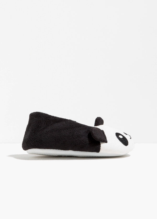 Two-tone ballerina slippers with panda | OVS