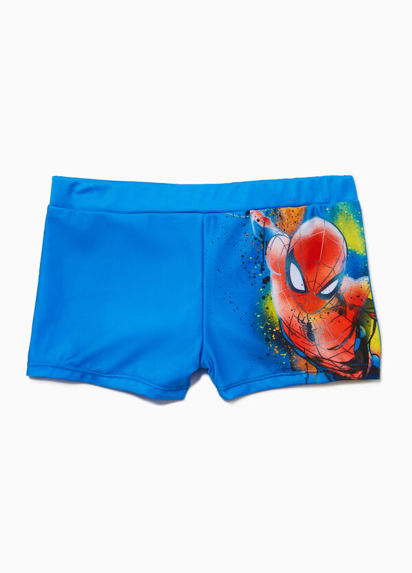 Spiderman print swim boxer shorts
