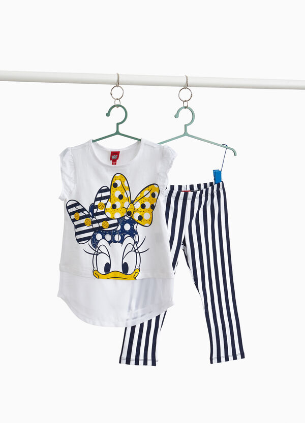 Stretch cotton Daisy Duck outfit