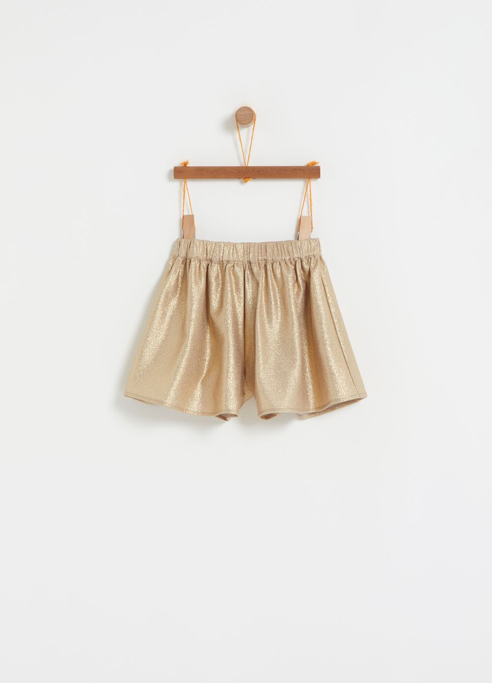 Stretch glitter shorts