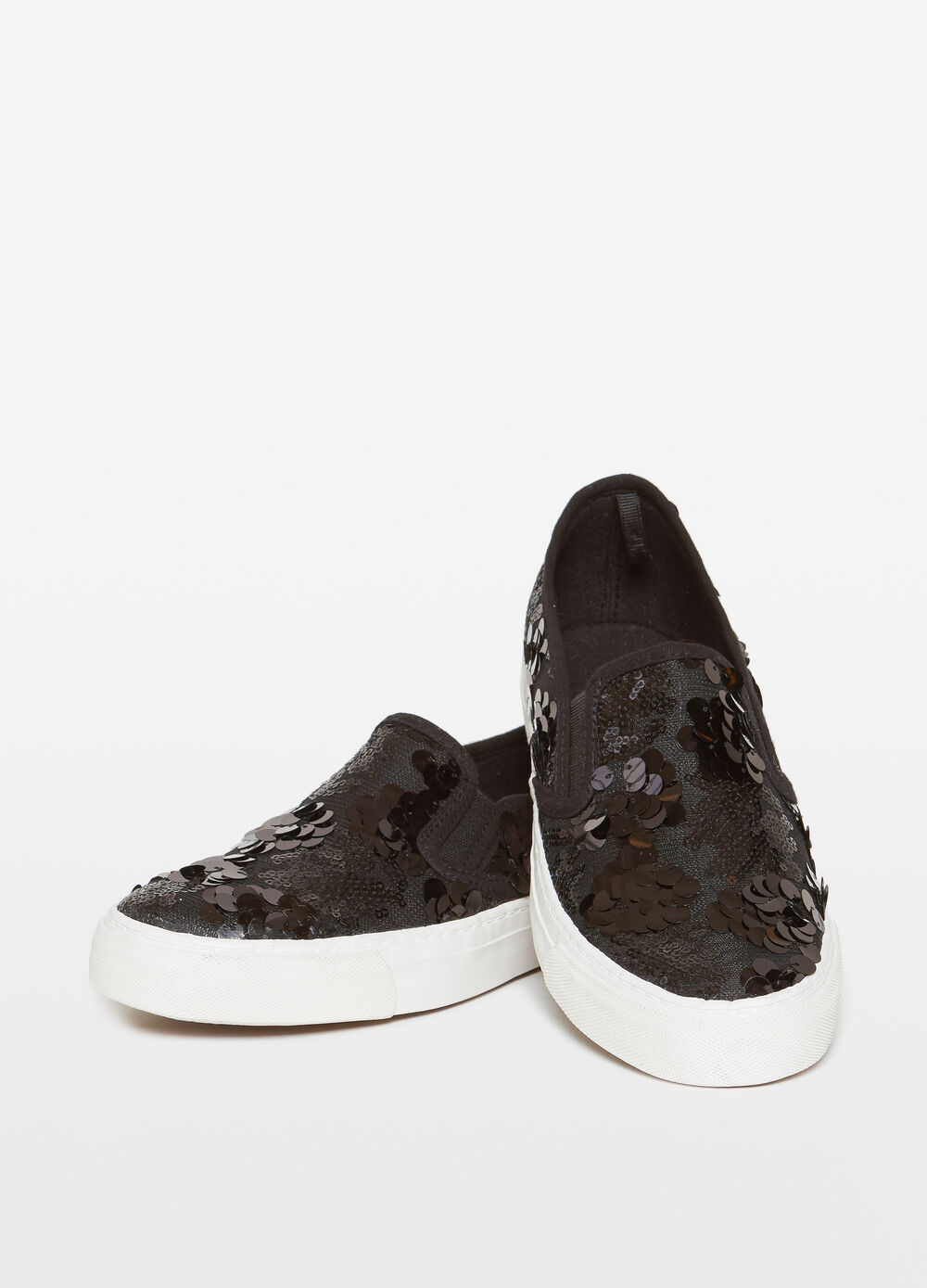 Slip-ons with sequins