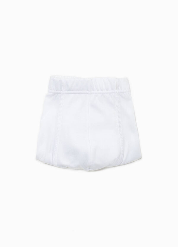 Solid colour 100% cotton boxer shorts