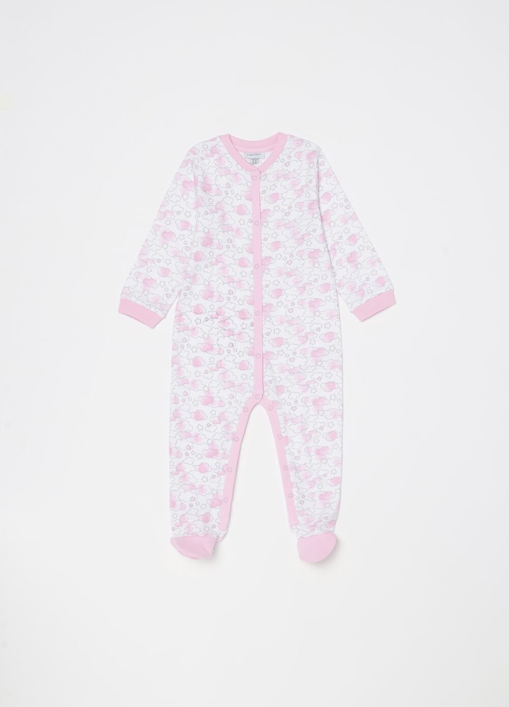 Onesie with feet and pattern