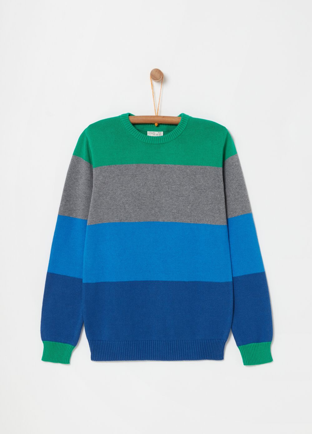 Striped top with long sleeves