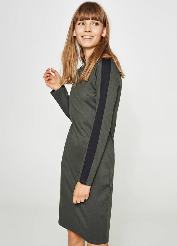 Viscose tube dress with bands   OVS