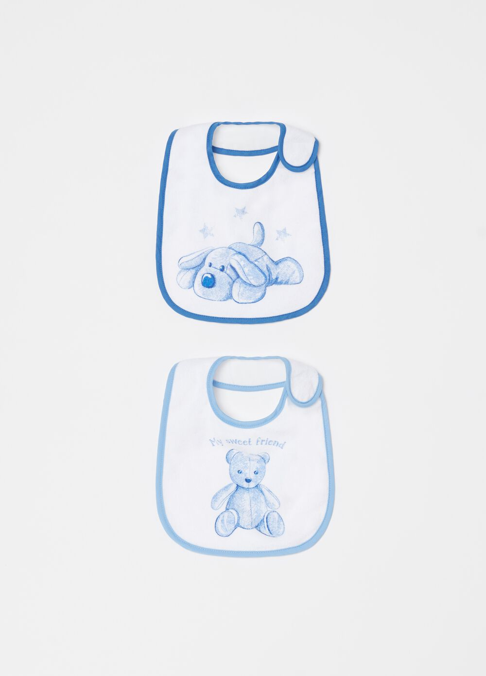 Two-pack bibs with print