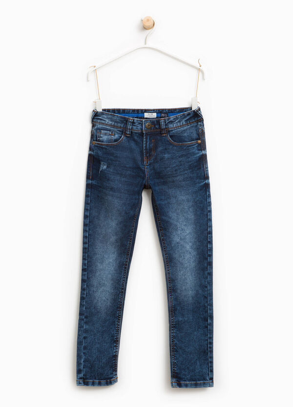 Slim fit, used-effect jeans with abrasions | OVS
