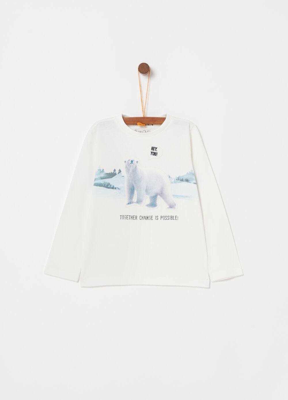 100% cotton T-shirt with WWF Bear print