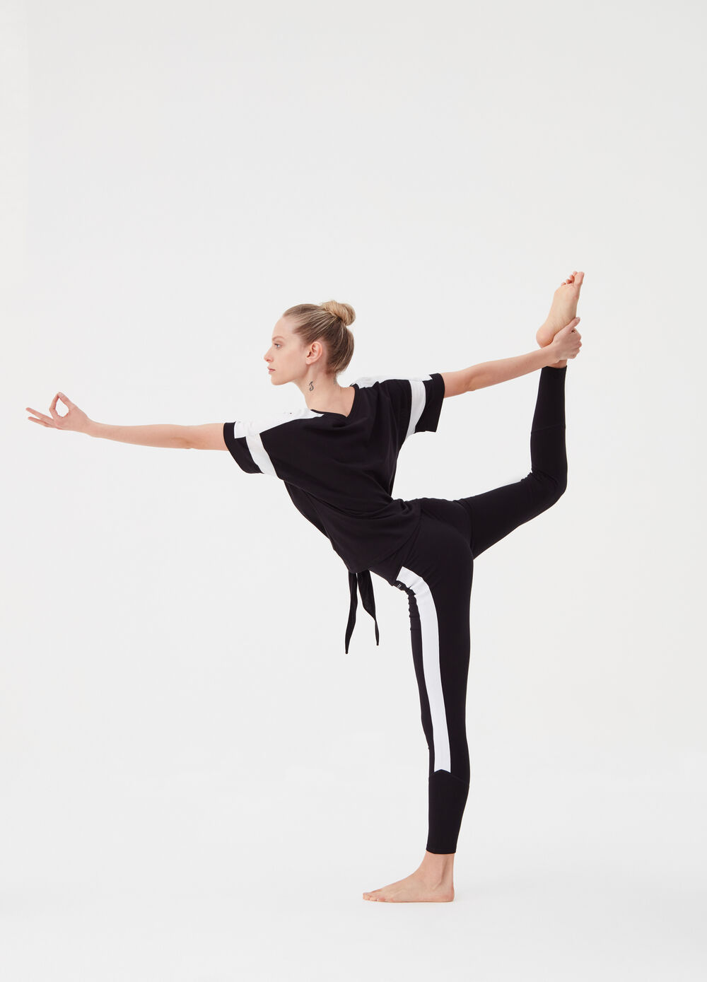 Leggings with contrasting bands