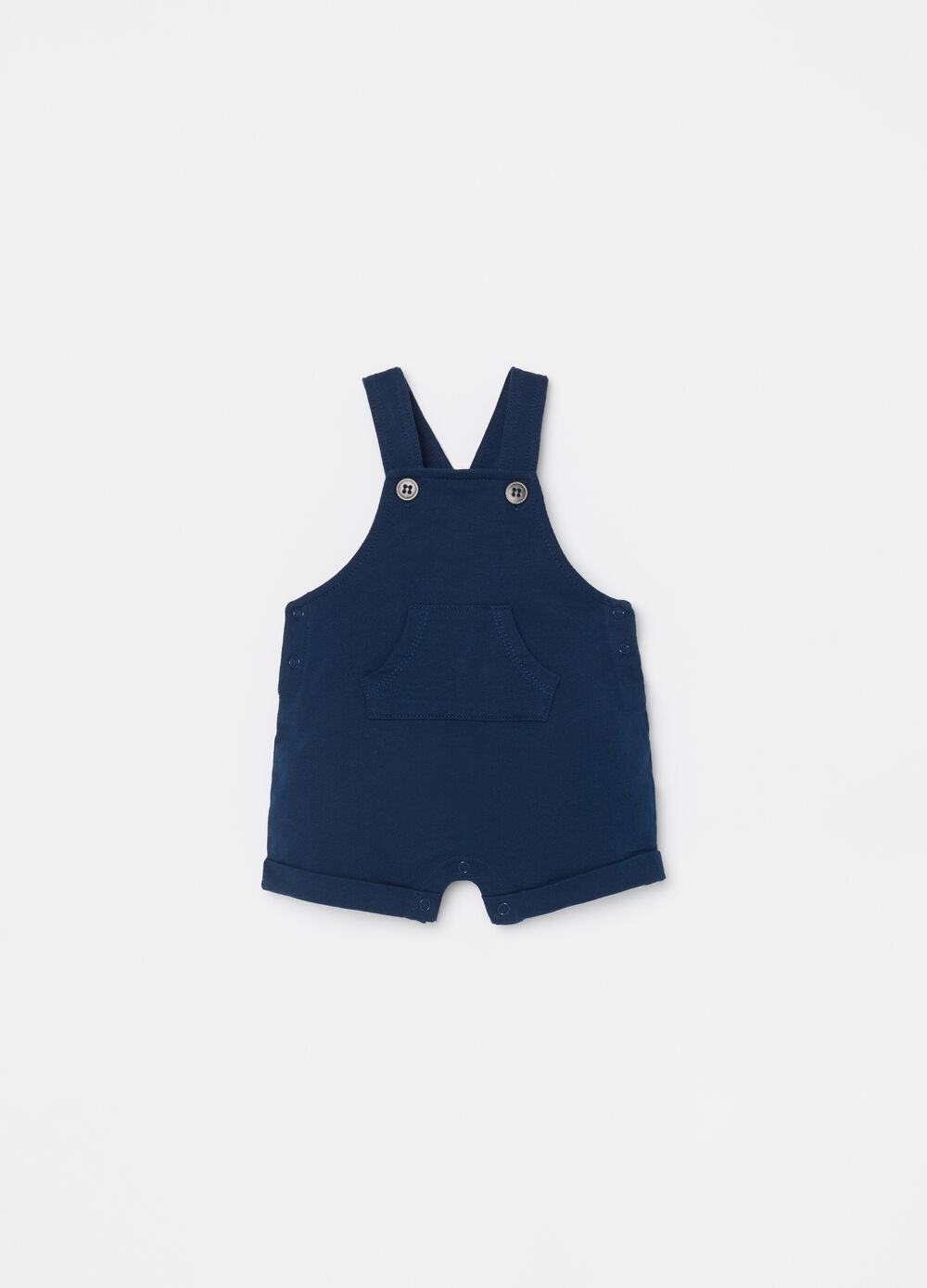 Short dungarees in 100% organic cotton