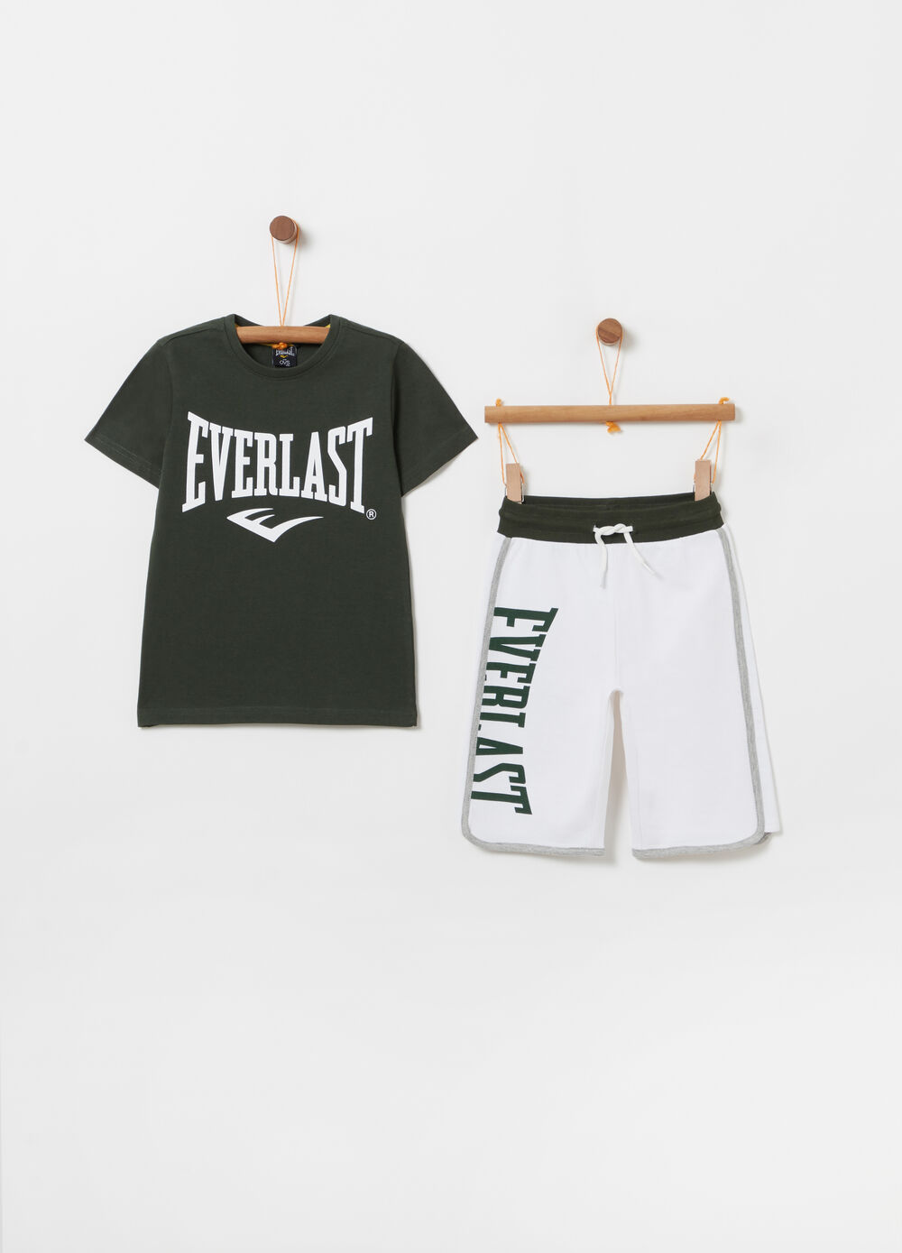 Pack jogging camiseta shorts bolsillo Everlast